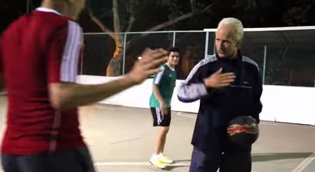 Sean Garnier crashes Brazilian football match dressed as old man – opponents aren't laughing for long