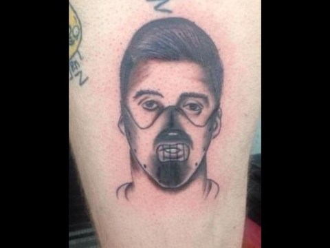 Just…why?! Fan gets barmy mash-up tattoo of Luis Suarez as Hannibal Lecter