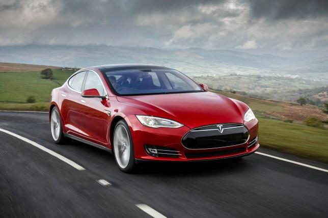 The Tesla Model S was released here last week (Picture: Tesla Motors)