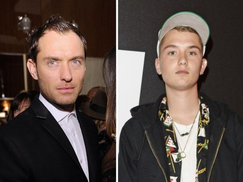 Jude Law's son, Rafferty, makes his modelling debut for DKNY at London Collections: Men