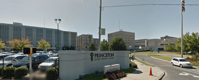 The man went for a circumcision at Princeton Baptist but woke up without a penis Picture: Google)