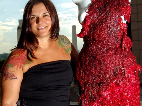 Condom couture: Brazilian artist creates dresses made entirely of condoms
