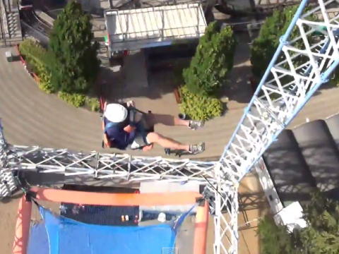 Brave enough to ride Sky Tower? 100ft free fall with nothing but a net below