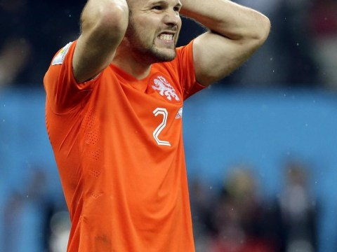Ron Vlaar's saved penalty against Argentina MILLIMETRES from spinning back into net