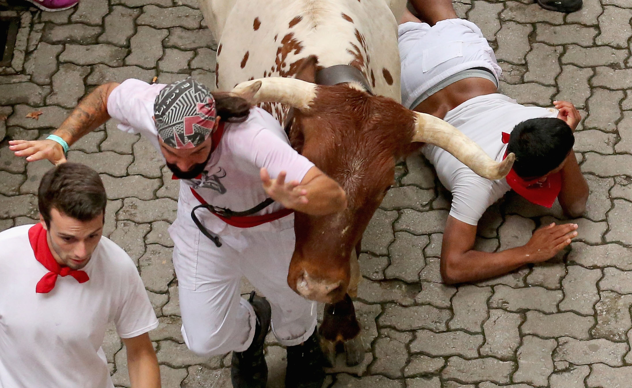 Annual madness that is Pamplona running of the bulls 2014 begins