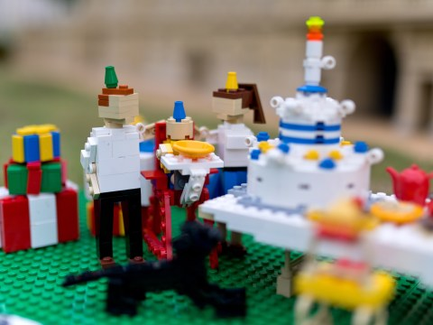 Legoland Windsor celebrates Prince George's first birthday in typical Lego style