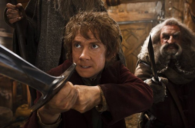 """Film: The Hobbit: The Desolation of Smaug (2013), starring Martin Freeman as Bilbo and John Callen as Oin.    This image released by Warner Bros. Pictures shows Martin Freeman, left, and John Callen in a scene from """"The Hobbit: The Desolation of Smaug.""""  Harvey and Bob Weinstein have sued Warner Bros.' New Line Cinema claiming they're owned a share of the profits from the second and third """"Hobbit"""" films. In a suit filed Wednesday in New York, the Weinsteins say their 1998 sale of the rights to J.R.R. Tolkien's """"The Hobbit"""" and """"The Lord of the Rings"""" trilogy to New Line applies to all subsequent """"Hobbit"""" films. Warner Bros. elected to split """"The Hobbit"""" into three films, the second of which opens in theaters Friday. (AP Photo/Warner Bros. Pictures, Mark Pokorny)"""