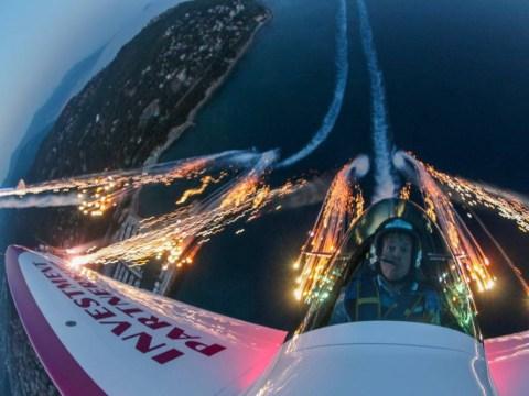 Twister aerobatics team creates stunning pyrotechnic display