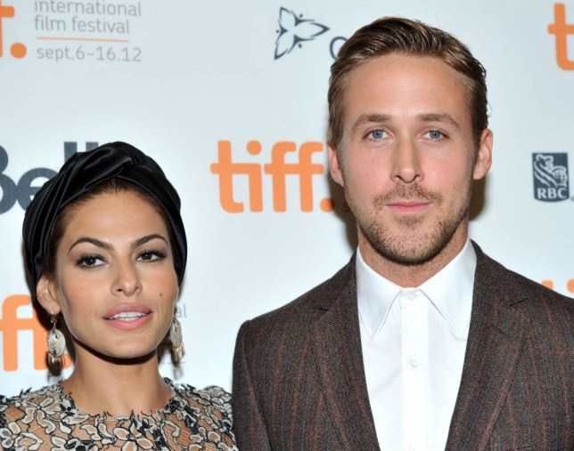 "TORONTO, ON - SEPTEMBER 07: Actors Eva Mendes and Ryan Gosling attend ""The Place Beyond The Pines"" premiere during the 2012 Toronto International Film Festival at Princess of Wales Theatre on September 7, 2012 in Toronto, Canada.  (Photo by Sonia Recchia/Getty Images)"