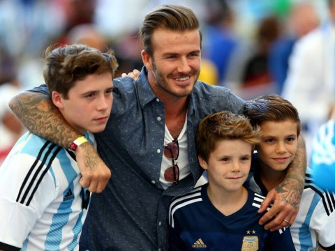 David Beckham and his boys wear Messi shirts to cheer on Argentina at the World Cup final, Rio Ferdinand is horrified