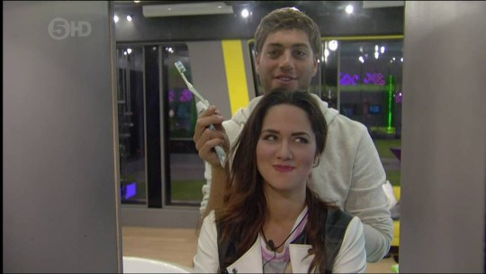 Steven Goode and Kimberly Kisselovich Big Brother 2014 (Picture: Channel 5)
