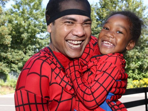 What's it like to have Spider-Man as a father? This little boy knows…