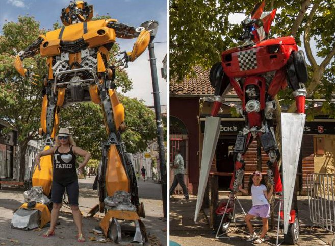 Where can you find towering replicas of Transformers? Montenegro (of course)