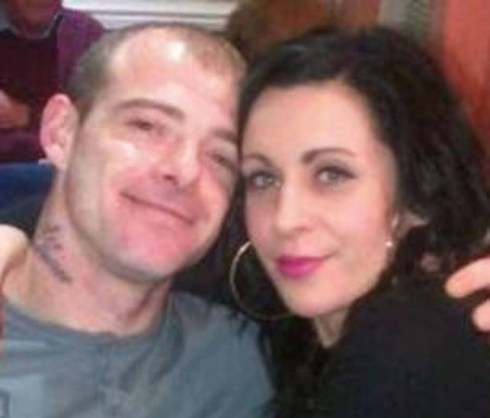 """Facebook picture of Dale Challoner with girlfriend Danielle Plumpton.  A jealous boyfriend hanged himself following a blazing row with his girlfriend - after she admitted she fancied TV star DANNY DYER.  See NTI story NTIDYER.  Tragic Dale Daniel Challoner, 31, was found dead in a community gardens after he stormed out of his home following the argument in April this year.  An inquest heard that he had argued with his partner Danielle Plumpton, 27, after she commented that the EastEnders star was """"good looking"""".  But the flippant comment had tragic consequences as Challonerís body was found hanging from a wooden structure in a community gardens near Mochdre, Conwy on April 11."""