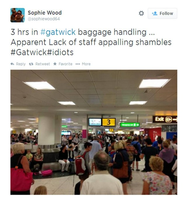 One tweet posted by a weary traveller (Picture: Twitter)