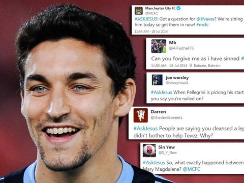 Manchester City launch #AskJesus hashtag for Jesus Navas Q&A, Twitter responds in hilarious fashion