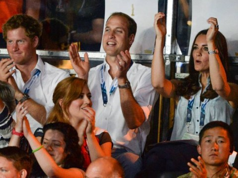 It's a royal knockout as Kate, William and Harry watch the boxing