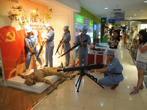 Chinese mall re-enacts execution of WWII Japanese soldiers – to sell clothes