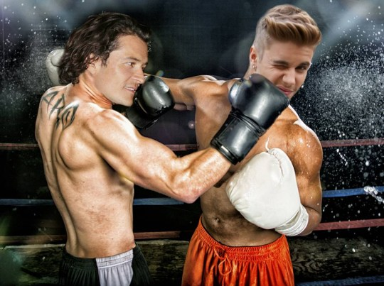 Orlando Bloom and Justin Bieber