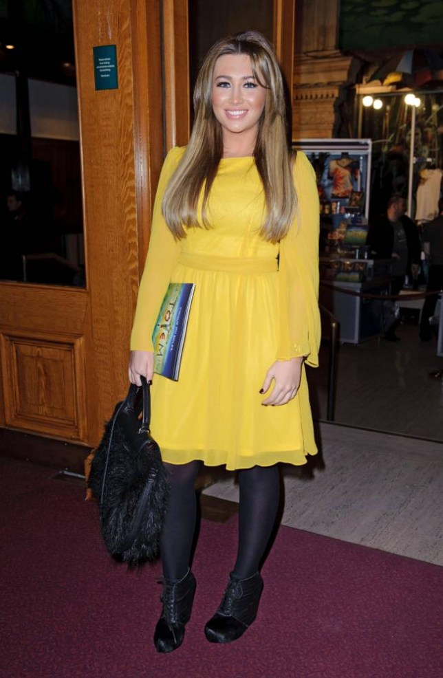 Lauren Goodger arriving at the Cirque de Soleil premiere at the Royal Albert Hall, London. PRESS ASSOCIATION Photo. Picture date: Thursday January 5, 2012. Photo credit should read: Matt Crossick/PA Wire