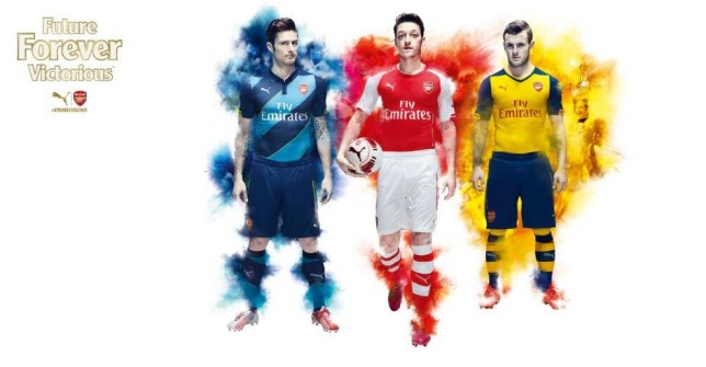 02a9eaef7 Arsenal launch snazzy new Puma kit with live projection on River ...