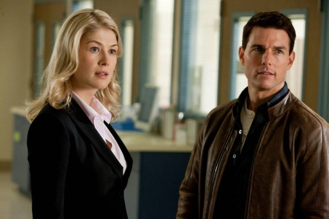 Film: Jack Reacher (2013) with Rosamund Pike is Helen and Tom Cruise is Jack Reacher.  Paramount Pictures and Skydance Productions. OS-14876