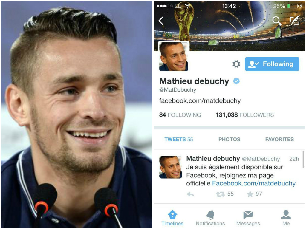 Mathieu Debuchy edges closer to Arsenal transfer after removing 'Newcastle player' from Twitter bio