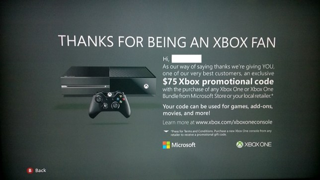 Microsoft offers random Xbox One discount to 360 owners