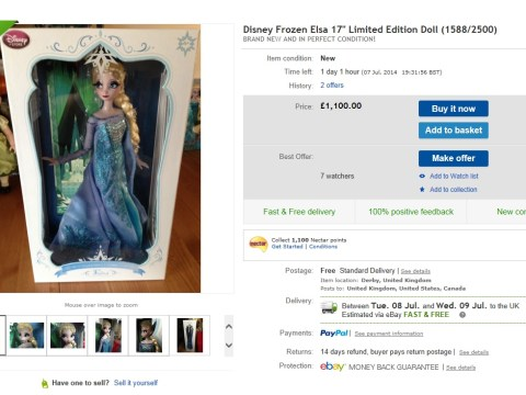 Britain's most wanted toy? Dolls for Disney's Frozen sell on eBay for nearly £3,000