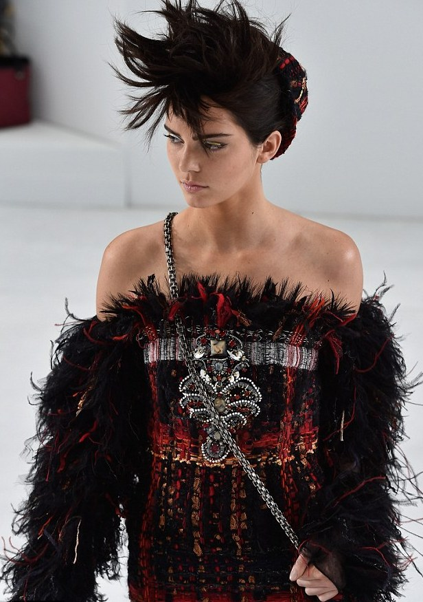 Surely she's made it now: Kendall Jenner makes her debut for Chanel Couture