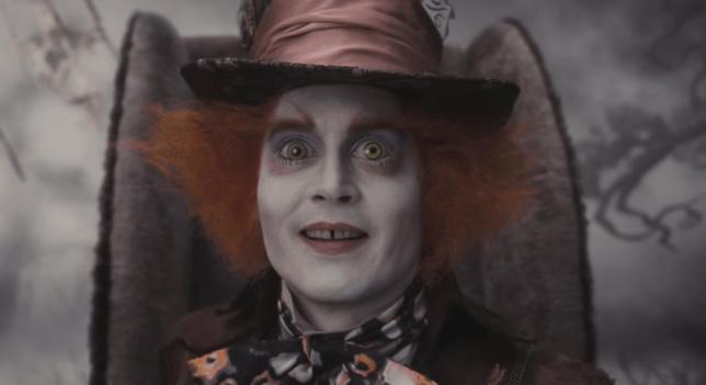 Johnny Depp Mad Hatter Alice In Wonderland (Picture: YouTube)