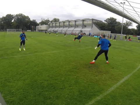 Kasper Schmeichel outdoes Peter Schmeichel with absolutely ridiculous training goal