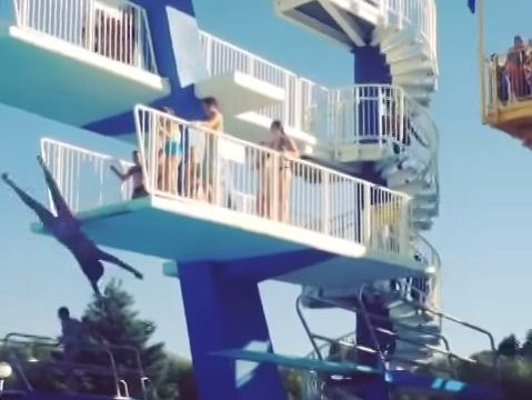 How NOT to dive off a diving board