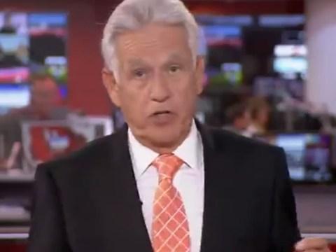 Anyone missing a newsreader? Nicholas Owen falls victim to unfortunate BBC blooper