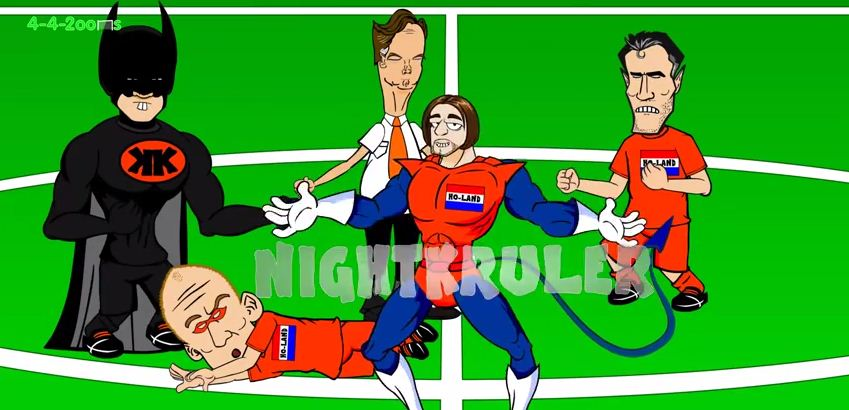 Tim 'NightKruler' Krul puts in epic penalty performance against Costa Rica as Marvel-inspired cartoon character