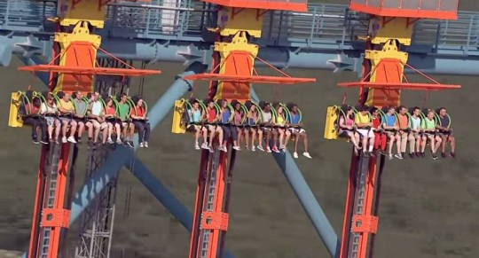 Dizzying heights: new ride is not for faint hearted (Picture: YouTube)