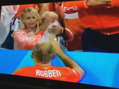 Arjen Robben consoles devastated son as Holland crash out of World Cup to Argentina