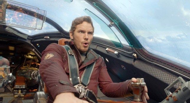 """This image released by Disney - Marvel shows Chris Pratt in a scene from """"Guardians of the Galaxy."""" The movie releases on Friday, Aug. 1, 2014. (AP Photo/Disney - Marvel) AP Photo/Disney - Marvel"""