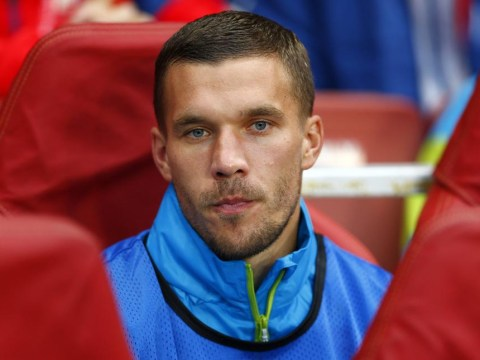 Arsenal's Lukas Podolski caught liking X-rated pictures on Instagram whilst everyone else plays football