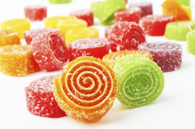 Colorful candy on white background. pioneer111/pioneer111