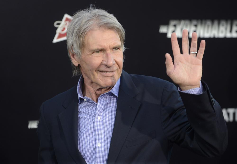 """Cast member Harrison Ford attends the premiere of the film """"The Expendables 3"""" in Los Angeles August 11, 2014. REUTERS/Phil McCarten (UNITED STATES - Tags: ENTERTAINMENT) Phil Mccarten/Reuters"""