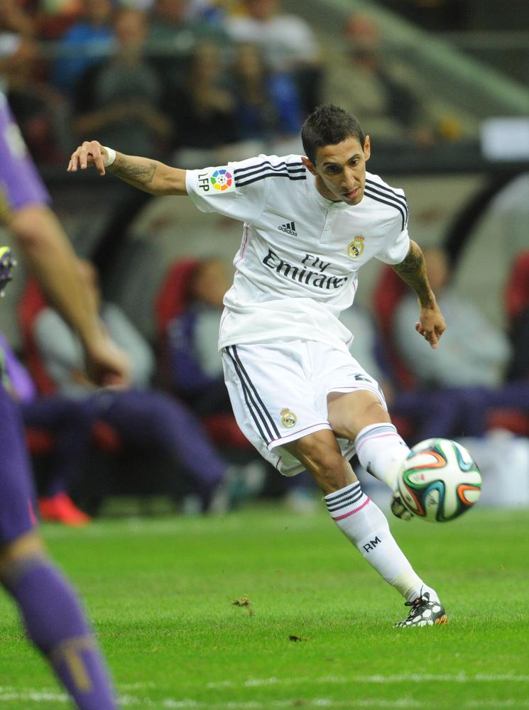 Angel Di Maria snapped at Madrid airport ahead of Manchester United transfer