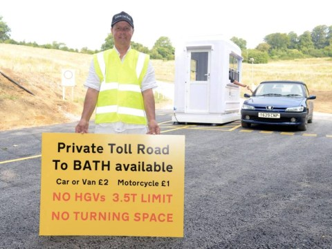 Man gets around closure of road by building his own – and charges £2 for cars to use it