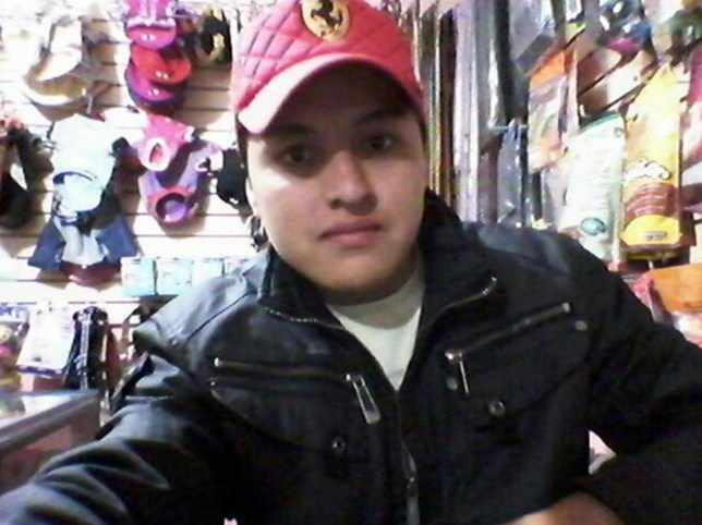 """Pic shows: Oscar Otero Aguilar tried to pose with a live gun to take a selfie and shot himself in the head. A young Mexican vet's desire to take ever more impressive selfies caused his death when he tried to pose with a live gun ñ and shot himself in the head. Twenty-one-year-old Oscar Otero Aguilar from the capital Mexico City had been snapped in images posted on his Facebook page, which had now been taken down, in front of fast cars, sitting on expensive motorbikes, hugging beautiful women and even posing in a band. But the man's endless search for the most impressive photo ended when he borrowed a gun and decided to take some snaps on his mobile phone as he waved it around. The alarm was raised by his neighbour Manfredo Paez Paez, 57, who told local media: """"I heard a gunshot, and then I heard somebody screaming and realised somebody had been hurt. I called the police straight away and when they arrived they found that he was still alive."""" Medics were quickly called out but the young man died on the way to hospital in an ambulance. Police who questioned those who were in the flat when the accident happened said that he had been messing around with the gun and taking pictures when it accidentally went off. They said that they believed the young man had not realised there was a bullet in the gun when it had been handed to him. According to the dead man's Facebook page, he worked as a vet in a pet shop looking after the animals. (ends)"""