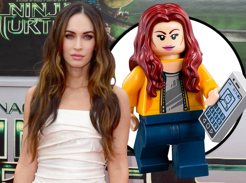 It's Teenage Mutant Ninja Turtles star Megan Fox in Lego form