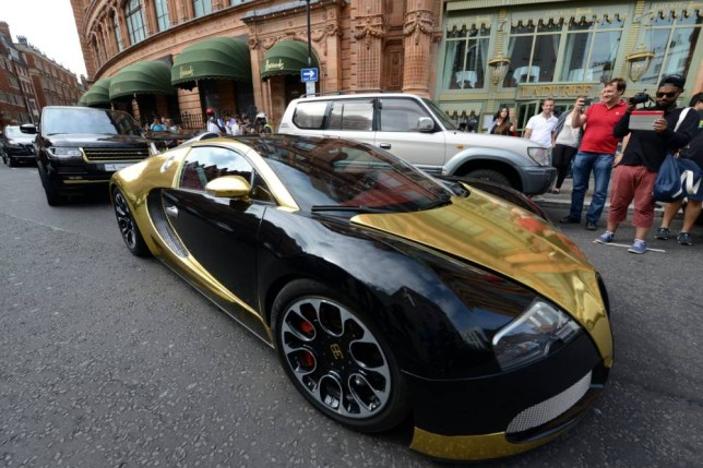Bugatti Veyron, London