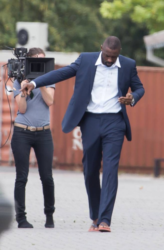 Filming of 'A Hundred Streets' in London Featuring: Idris Elba Where: London, United Kingdom When: 05 Aug 2014 Credit: WENN.com