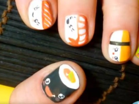 Fish fingers: This 3D sushi nail art is amazing