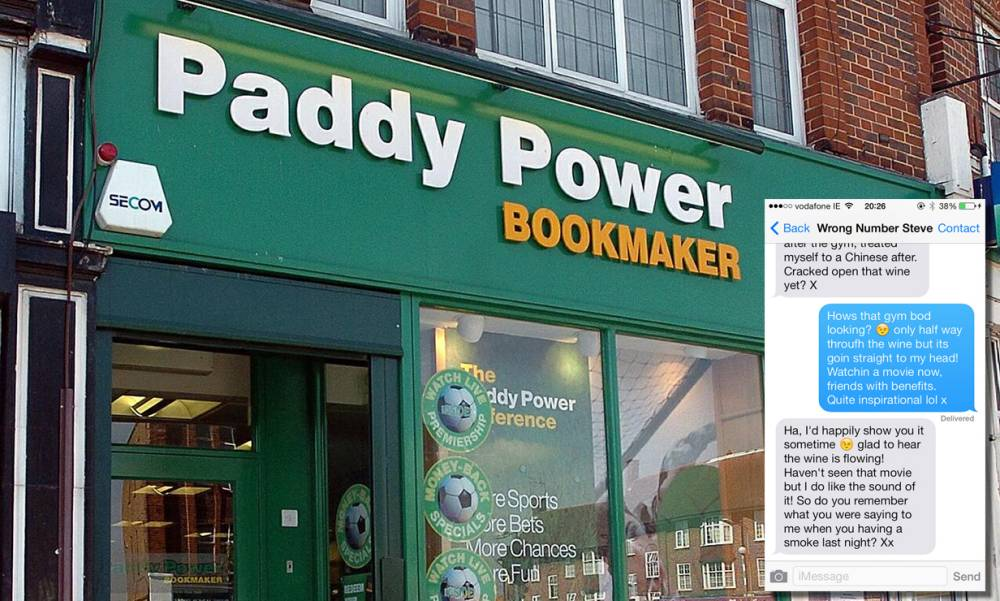 Guy thinks he's texting girl from bar, but it's a Paddy Power worker who broadcasts convo on internet