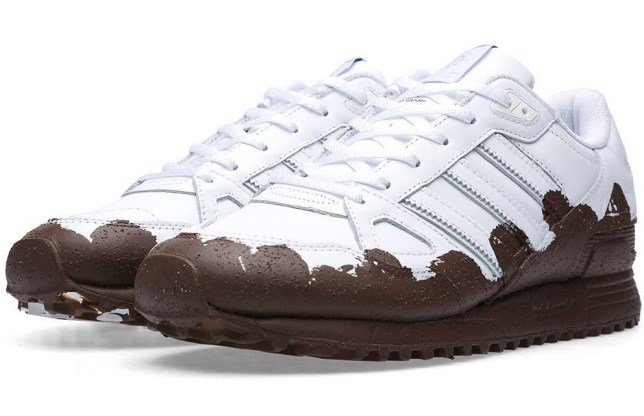 3fb645af0b3 Look at these Adidas ZX 750 trainers which are covered in fake mud ...